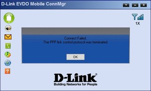 The PPP link control Protokol was terminated